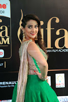 Manjusha in Beautiful Sleeveless Green Anarkali dress at IIFA Utsavam Awards 007.JPG