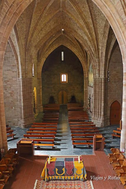 Interior de la iglesia del Monasterio de Valvanera. La Rioja