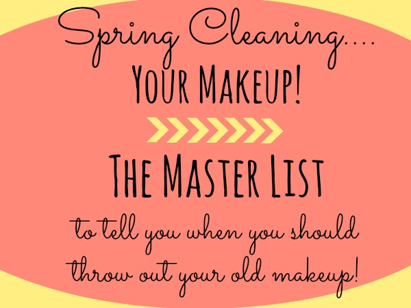 Spring Cleaning Your Make Up Drawer