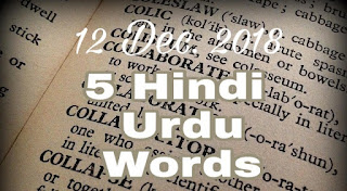 Urdu hindi words