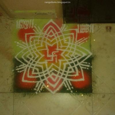 Swastik Rangolis Designs