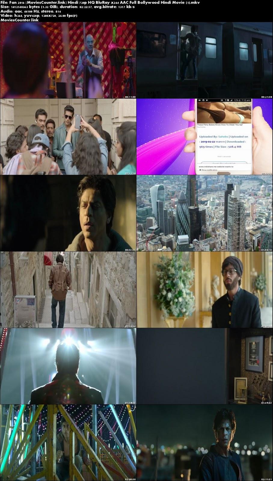 Screen Shots Fan 2016 Hindi HD 720p