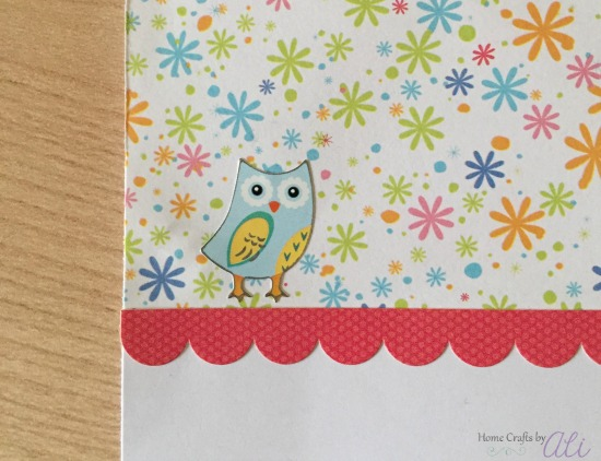 make and easy card for a friend using cute stickers and decorative scrapbook paper