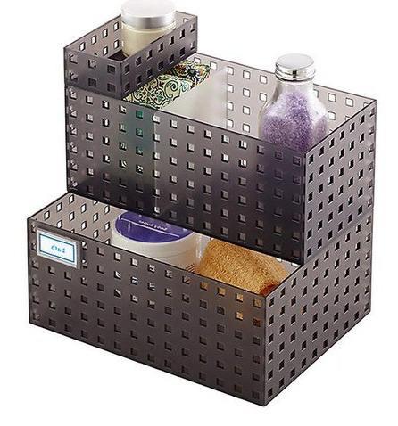 Bricks Bathroom Cabinet Organizer Storage