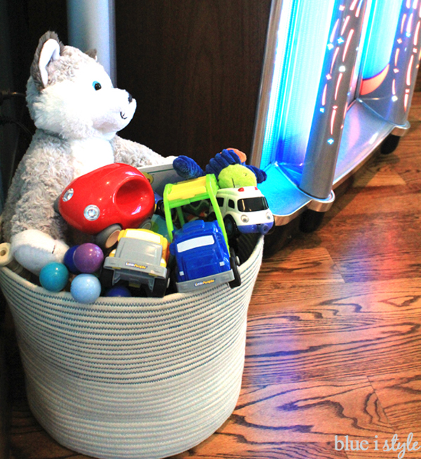 Hide toys in plain sight with pretty baskets