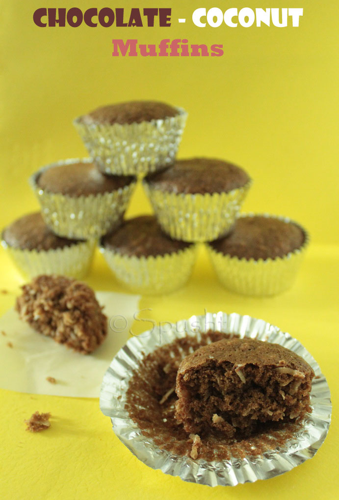eggless muffin recipe with chocolate and coconut