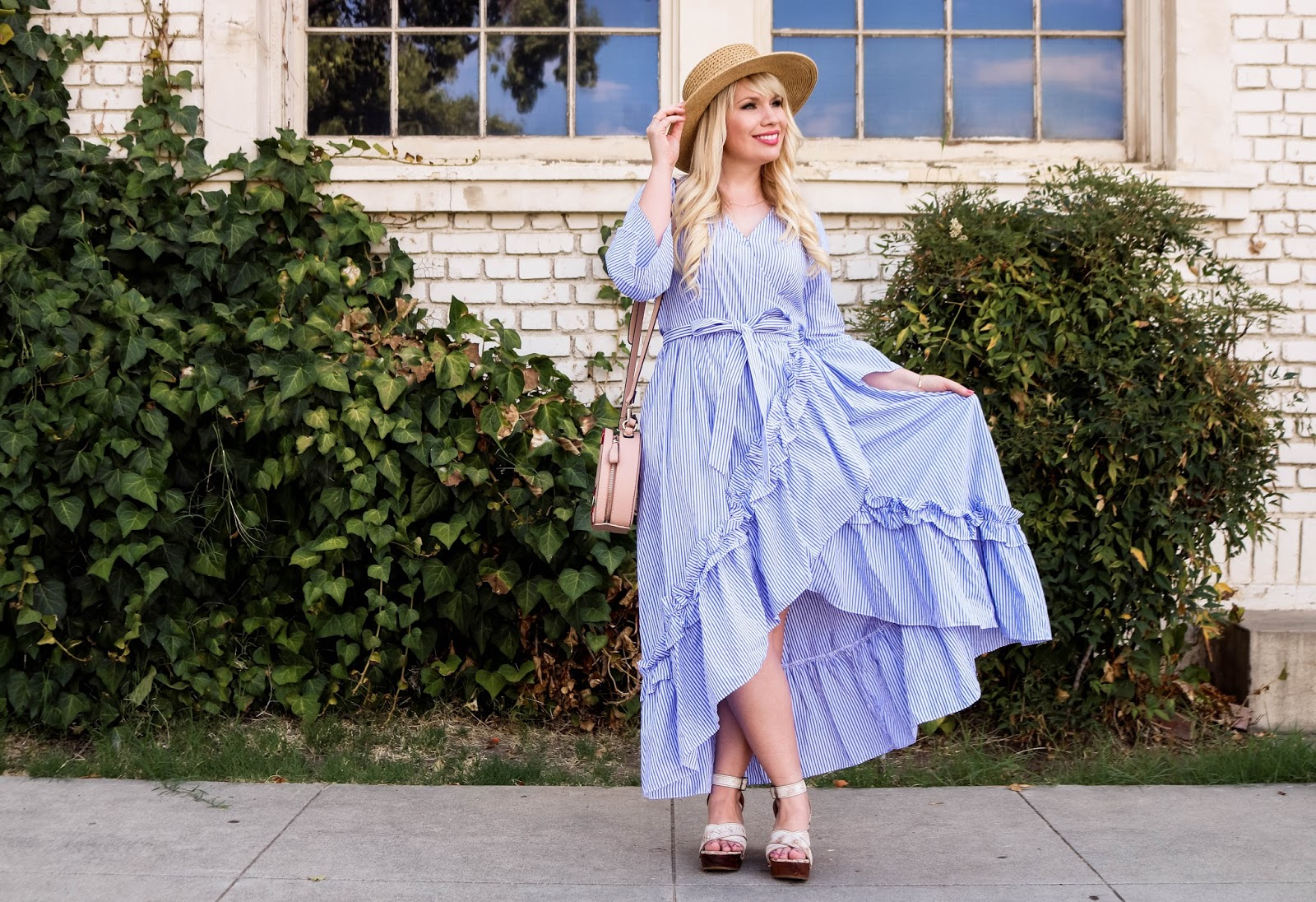 e4e4b42d840d39 Ruffled Wrap Dress & Link Up | Lizzie In Lace