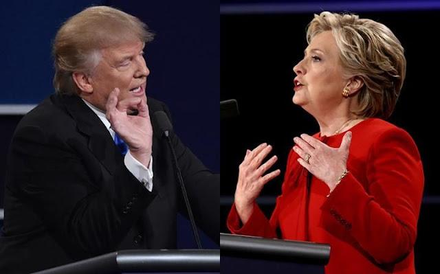 Clinton Menyalip Lawannya dari Partai Republik Donald Trump