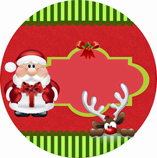 Toppers or Free Printable Candy Bar Sweet Santa Labels.