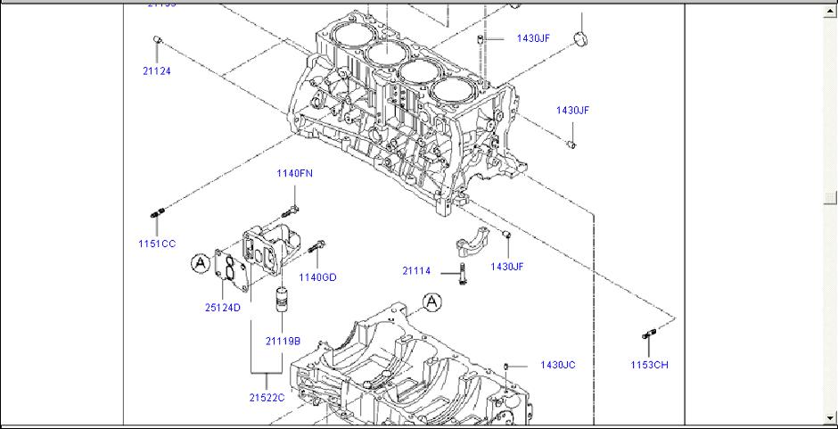 2002 kia rio 1 5l Diagrama del motor