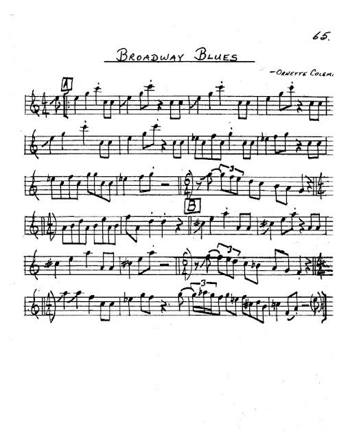 Partitura Saxofón Ornette Coleman