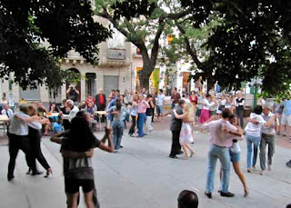 San Telmo Residents Tango Dancing  Sunday Buenos Aires argentina