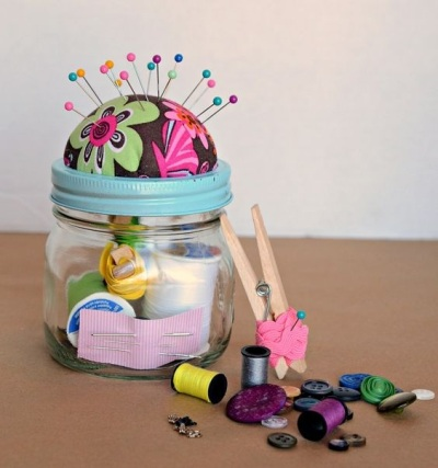 Sewing Kit Gift in Jar