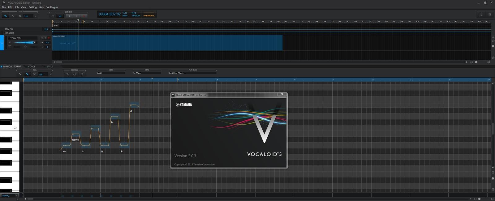 YAMAHA Vocaloid 5 ESV v5.0.3.1 Full version