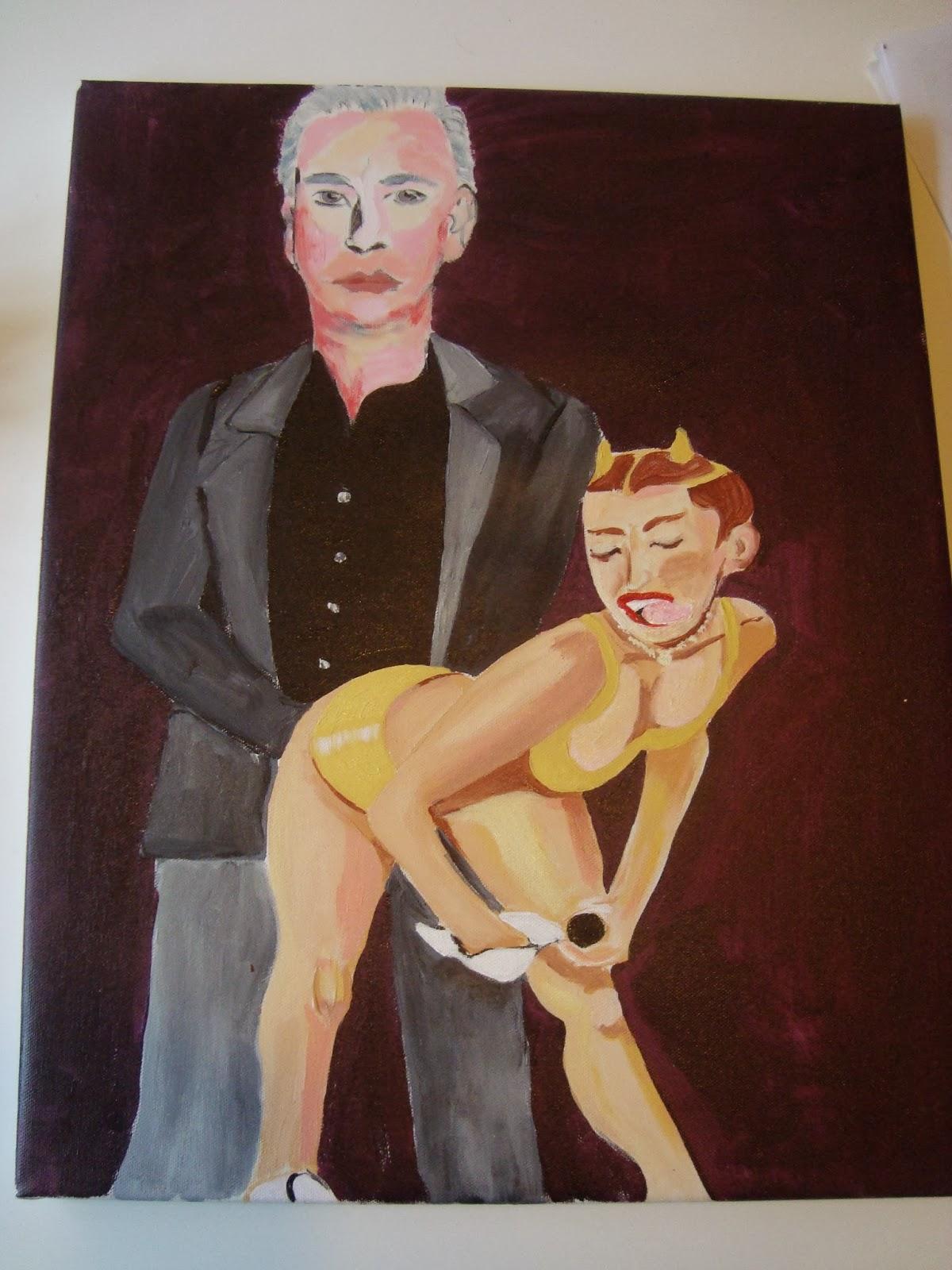 Miley cyrus twerking two black dicks 7