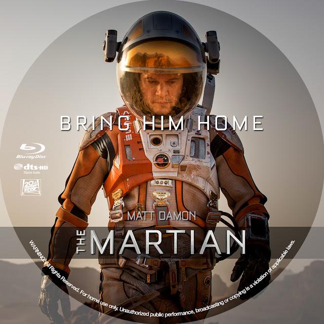 The Martian Bluray Label
