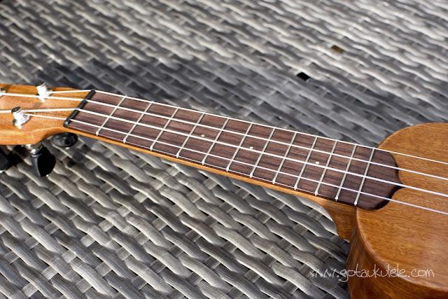 Ken Timms Mahogany Soprano fingerboard