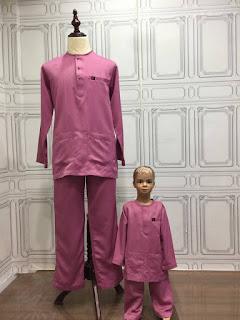 baju melayu sedondon bapa anak 2018