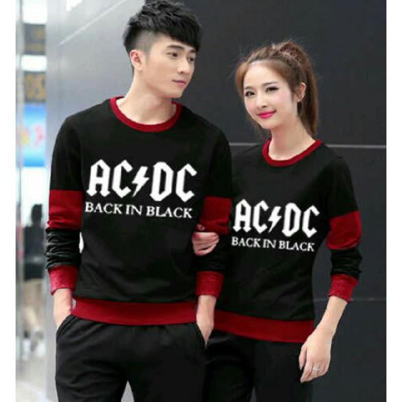 Jual Online LP ACDC Black Murah Jakarta Bahan Spandex Terbaru.