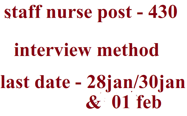 staff nurse post - 430