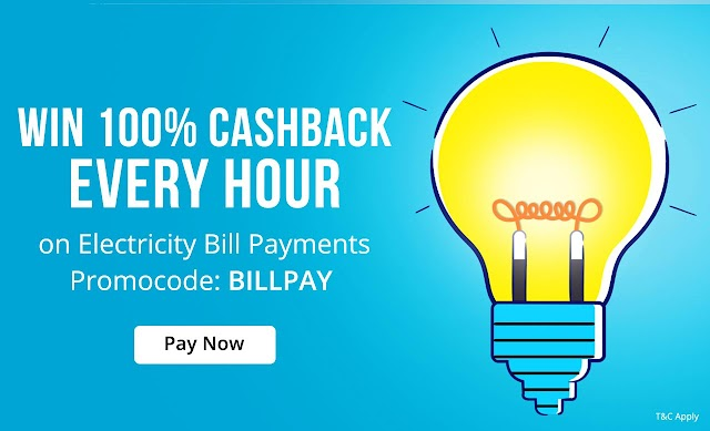 Paytm Win 100% Cashback on Electricity Bill Payment