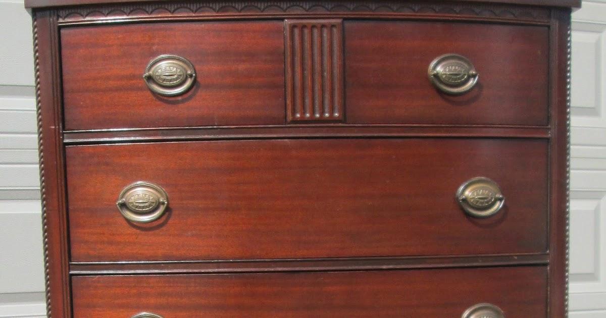 Boho chic antique mahogany dresser chest hepplewhite pulls sold