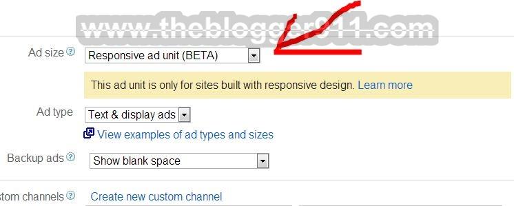 Responsive Design Ad Units For Google AdSense