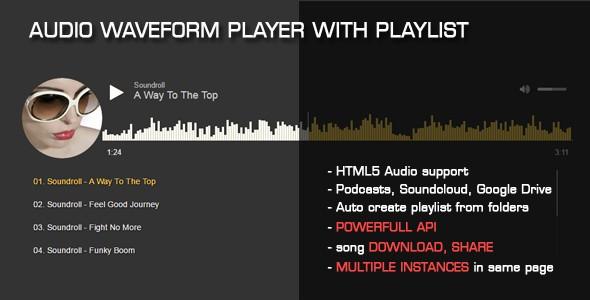 Audio Waveform Player with Playlist