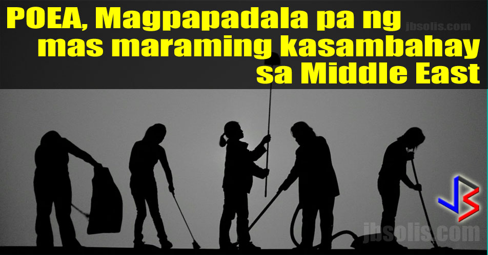 "The Philippine Overseas Employment Administration (POEA) has allowed foreign recruitment agencies (FRA) in the Middle East to hire more Filipino household service workers (HSW). The POEA cites the increasing demand for ""kasambahays"" abroad.  The move is surprising since just over six months ago, the DOLE and POEA are saying the opposite, the plan to ban or reduce the number of HSWs to be sent to the Middle East. This is in light of the recent abuses committed against Filipino HSWs that went viral in social media sites.  The POEA governing board (GB) issued its Resolution No. 3 (series of 2017) increasing the number of Philippine Recruitment Agencies (PRA) that a foreign agency (FRAs) in Arab countries could partner with, according to Labor Undersecretary and POEA OIC Bernard Olalia. This raises the partnership limit from two to five.  Under POEA's regulation, foreign agencies could hire a maximum of 100 Filipinos HSWs for each of their partner PRAs. The previous limit of Filipino HSW hires for each foreign agency was 200. This will be increased to 500 Household Service Workers.  ""We have to increase the accreditation so we could deploy more Filipino workers,"" Olalia said. The new policy is a response to the growing demand for HSWs in the last two years.  ""If you compare 2015 with 2016, for sure the number of deployed [OFWs] increased from 1.8 million in 2015, it went to as high as 2.1-million OFWs,"" Olalia said.  ""The biggest chunk of these deployed OFWs are HSWs followed by health workers and then semiskilled professionals,"" he added.  According to the latest available data from POEA's website, deployment of Filipino HSWs grew by 7.51 percent to 194, 835 in 2015 from 181,224 in 2014. The 2016 deployment data is yet to become available in the same site.  This increase comes even after the many reported and unreported incidents of physical, emotional, sexual and psychological abuse of household service workers, most of whom are women.  Labor Secretary and POEA Governing Board Chairperson Silvestre Bello III, pointed out that only FRAs, which are compliant with POEA regulations would be granted with the new privilege. ""We are okay with this as long as they protect our Filipino workers,"" Bello said in a previous interview.  This development is worrisome as there is really very little assurance that foreign nor local agencies are providing protection for Filipino HSWs. Almost every week, we see videos and posts of HSWs asking for help or assistance."