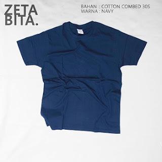 Kaos Polos Navy - Zetabita