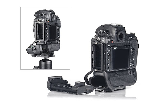 Sunwayfoto PNL-D850G L bracket on Nikon D850 w/ Grip