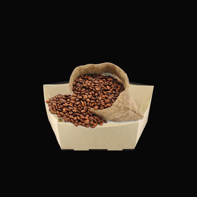Koszyk na prezent z kawą