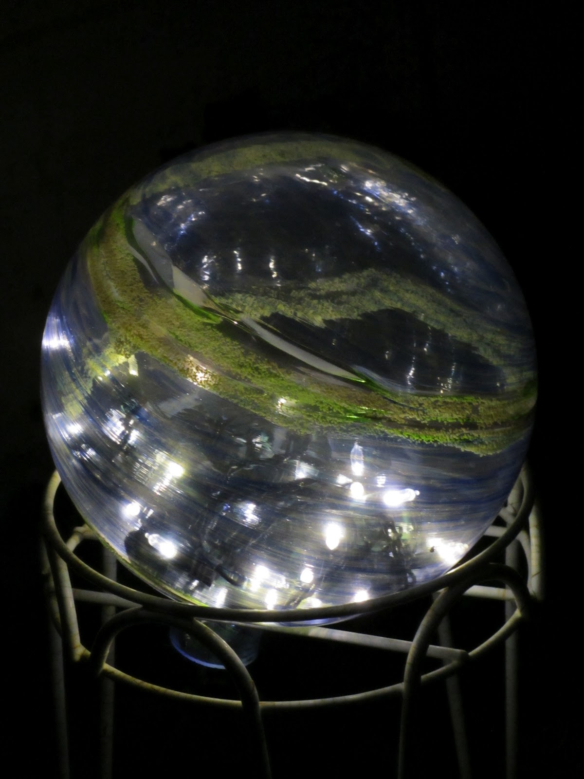 Moon Valley Productions Garden Gazing Ball With Mini Lights