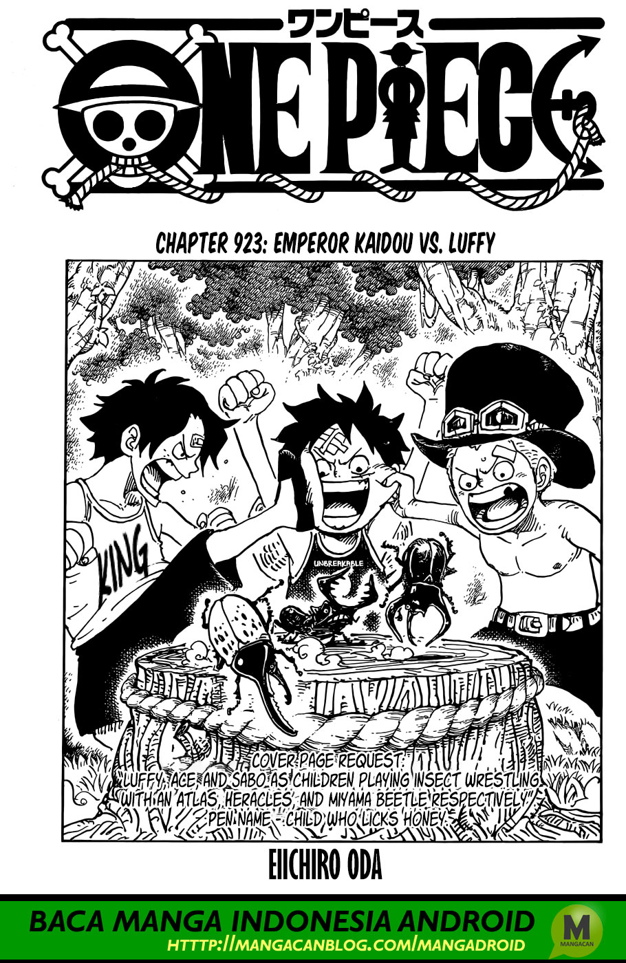 One Piece Chapter 923 Bahasa Indonesia