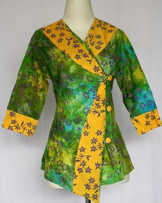 Kemeja batik wanita desain busana china