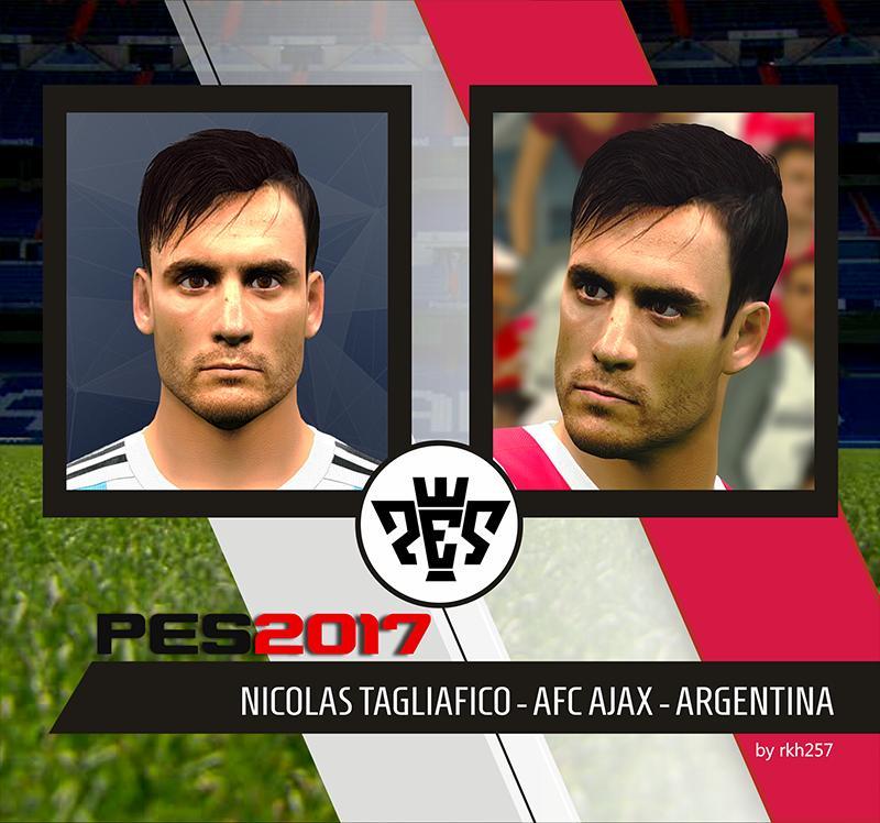 PES 2017 Nicolás Tagliafico (Ajax) Face By RKH257