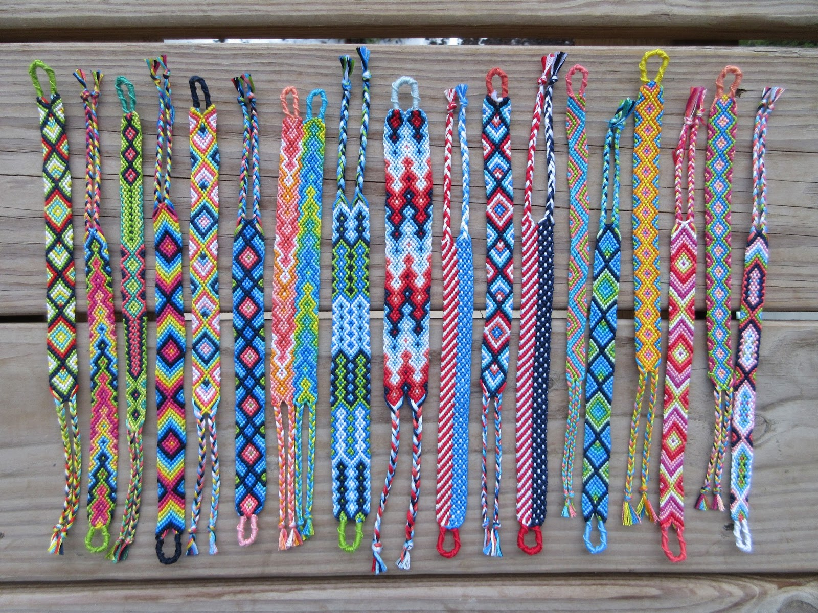 with fingerloop loop embroidery chevrons bracelet friendship bracelets finger braiding floss