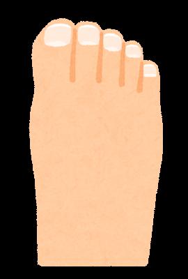 足の爪のイラスト
