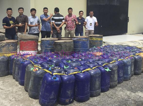Berbisnis  BBM Mentah, Warga Baradatu Ditangkap Polisi