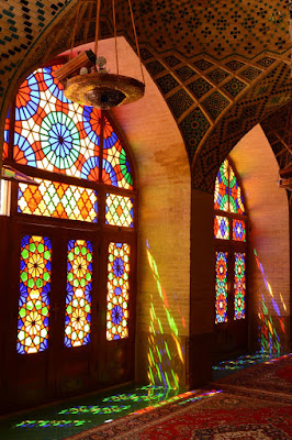 Interior mezquita shiraz