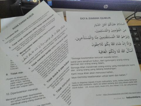 Printable Doa dan Adab Ziarah Kubur
