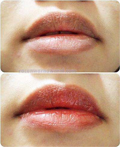 Sebelum dan Sesudah Memakai Lipstik
