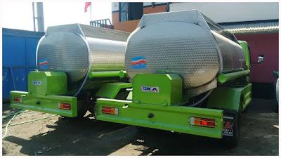 truk tangki air plat alumunium