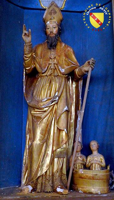 Saint-Nicolas (XVIIe siècle) - Statue en bois polychrome - Église de Rémoville (88)