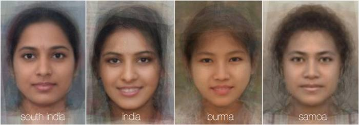 FaceResearch.org, a site run by two psychologists at the University of Aberdeen in Scotland, features software that can average together faces from thousands of photos. These images purportedly show the average face of women from 40 different nationalities.