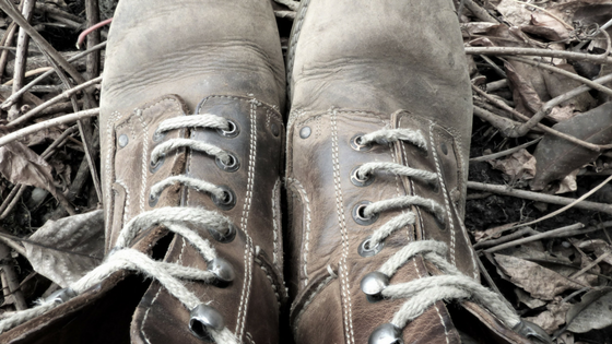 Lace up boots.