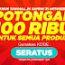 Promo Potongan Harga 100 Ribu Belanja Online Akhir Bulan