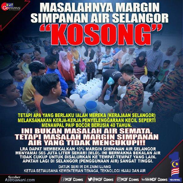 Krisis Air Selangor: Dulu kata Langat 2 tak perlu, sekarang minta salurkan air walaupun separuh siap