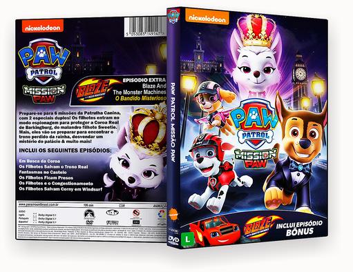 PAW PATROL MISSÃO PAW DVD-R OFICIAL