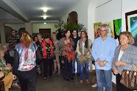 Márcio de Paula, Secretário de Cultura, Edith di Sidi, pres. da Soarte, e convidados na inauguração da Galeria Soarte – Artista Sami Mattar